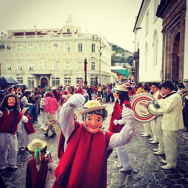 Ecuador - Quito mit Maskentanz - Instagram