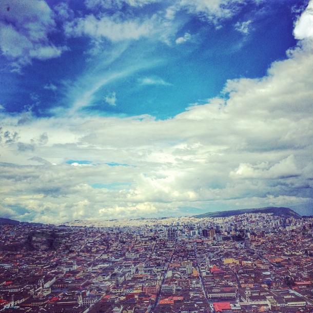 Ecuador - Quito von oben - Instagram
