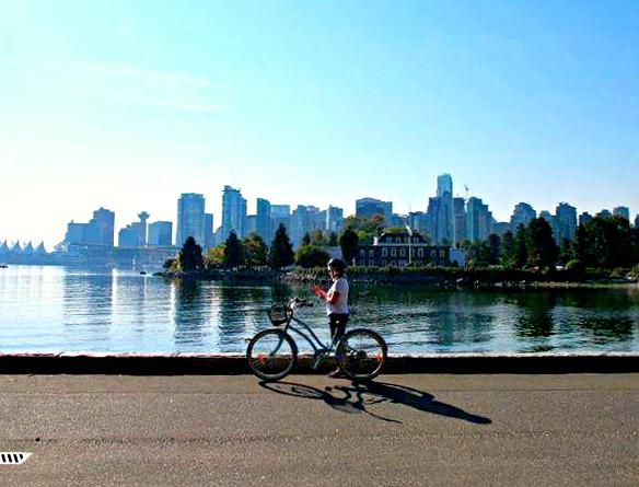 Kanada - Reise nach Vancouver - Fahrradfahrer