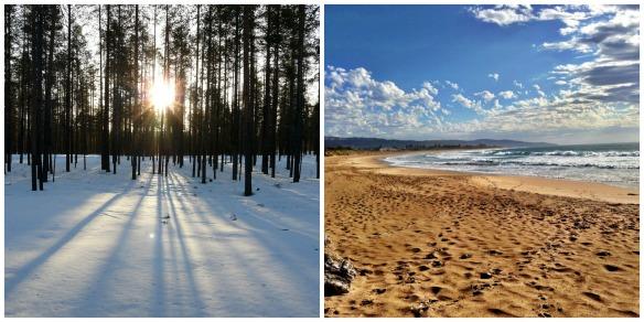Beauty Pflege Schnee & Strand