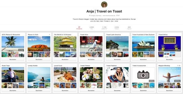 Pinterest Travel on Toast