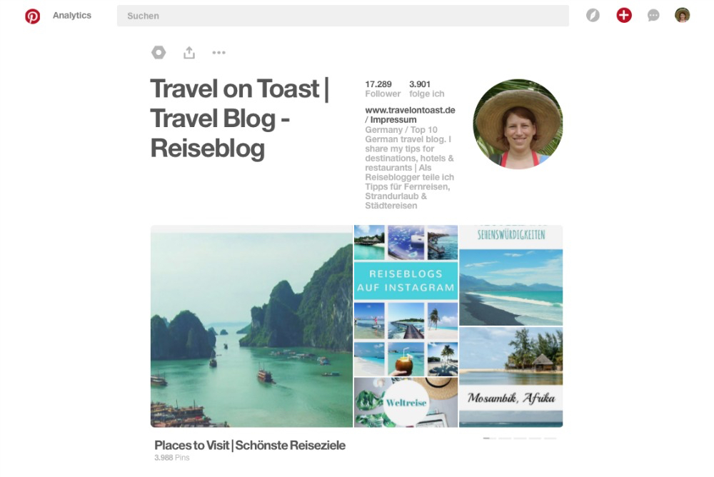 Travel on Toast auf Pinterest