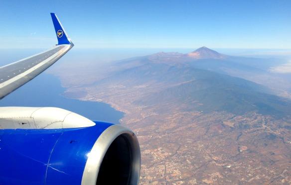 Langstreckenflug nach Teneriffa