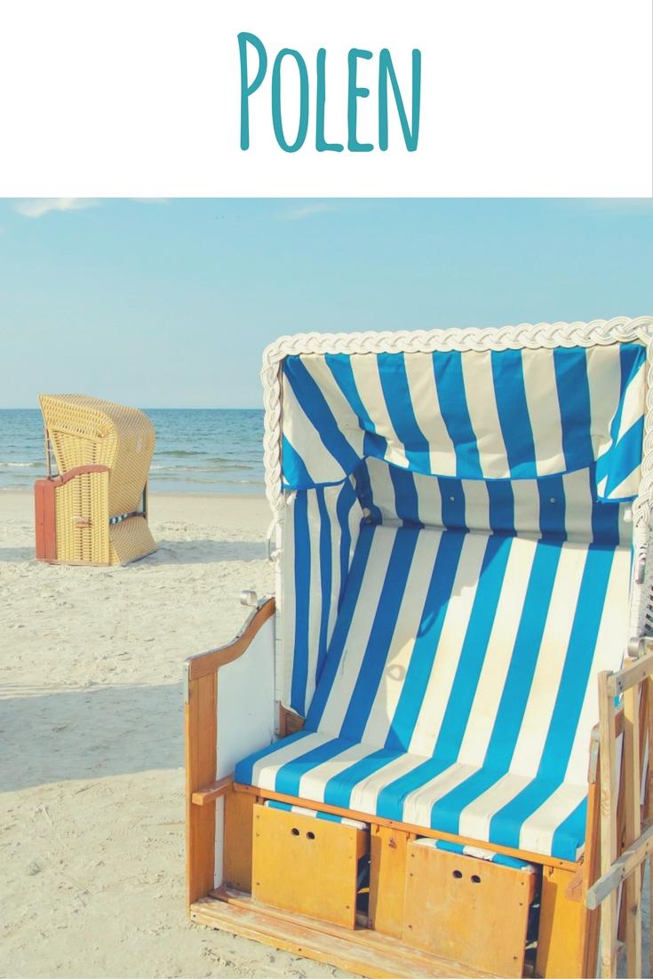 Strandkorb an der Ostsee in Kołobrzeg (Kolberg), Polen - Artikel zum Pärchenurlaub im Reiseblog