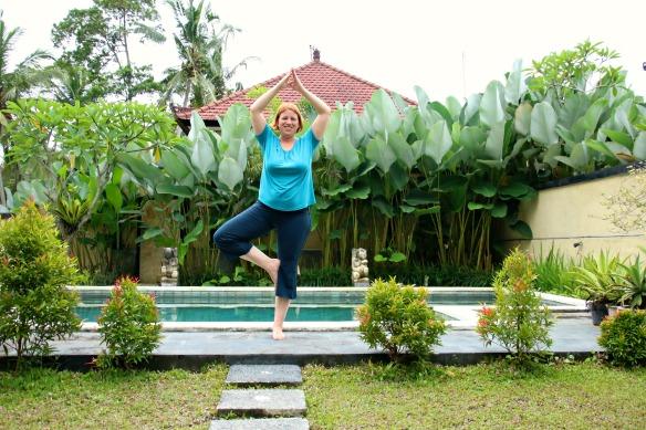 Reiseblogger Anja Beckmann beim Yoga
