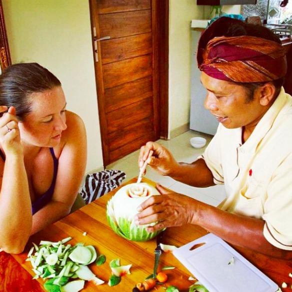 Ubud Bali Indonesien - Fruit Carving