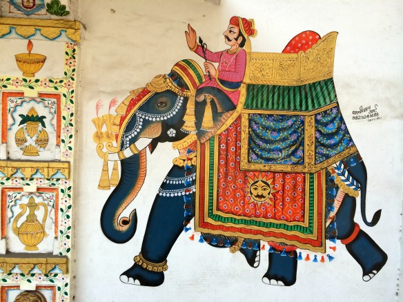 Wandmalerei in Indien