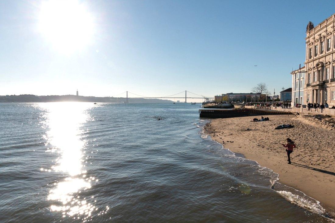 Fluss Tejo in Lissabon