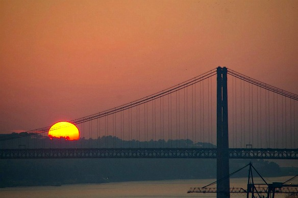 Lissabon Portugal Sonnenuntergang