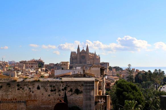 Mallorca - Blick von Es Baluard auf La Seu