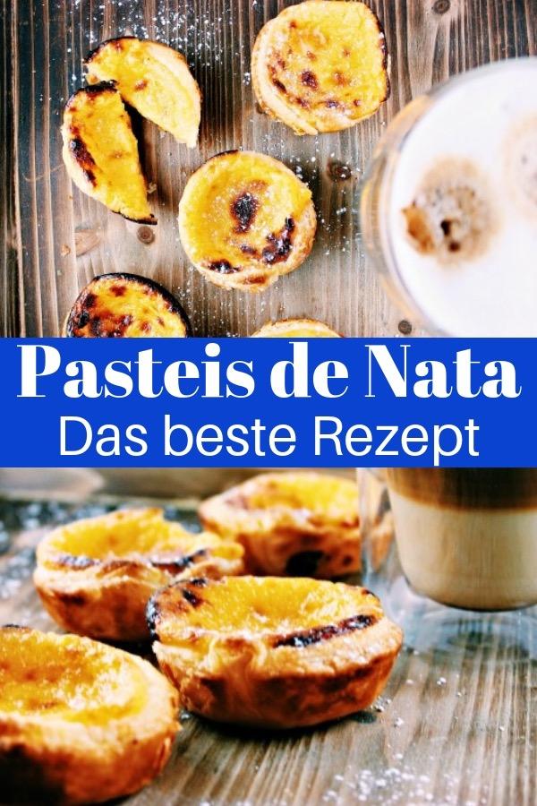 Das beste Pasteis de Nata Rezept: So backst du schnell und einfach die superleckeren Puddingtörtchen aus Portugal. #Backen #Rezept #PasteisdeNata #PasteldeNata #Portugal #Lissabon