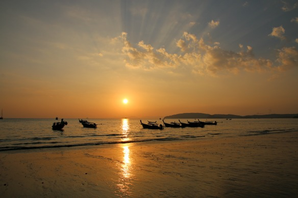 Sonnenuntergang Strand Ao Nang