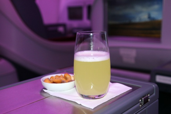 Pisco Sour bei LAN Airlines