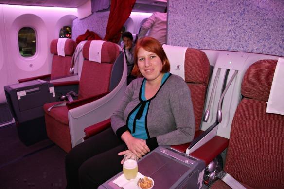 Reiseblogger Anja Beckmann im Dreamliner