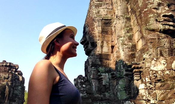 Reiseblogger in Bayon