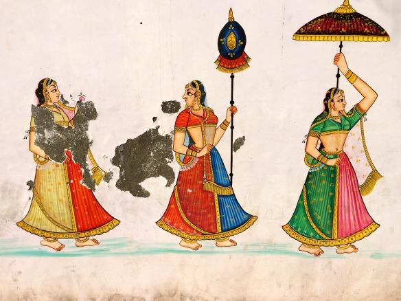 Wandgemälde in Indien