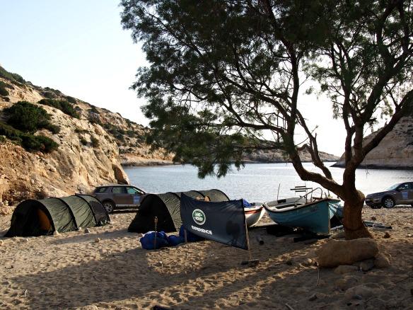 Camping am Strand