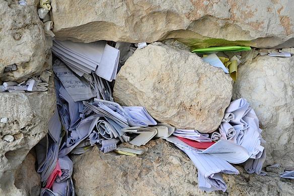 7 Zettel in der Klagemauer