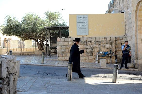 Auf der Straße in Jerusalem