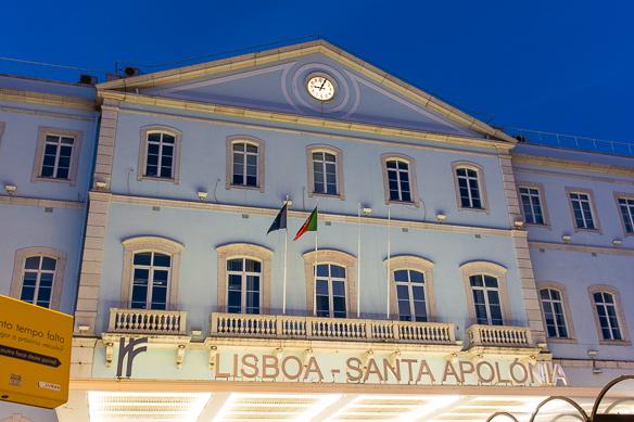 Bahnhof Santa Apolónia in Lissabon