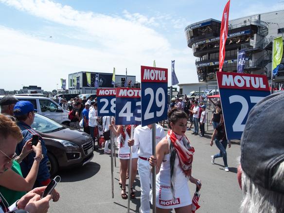 Beim Rennen in Le Mans