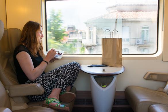 Ariane Bille mit Interrail unterwegs