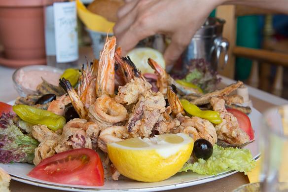 Meeresfrüchte in Athen