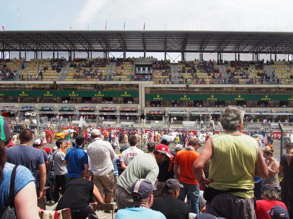 Zuschauer beim Rennen von Le Mans