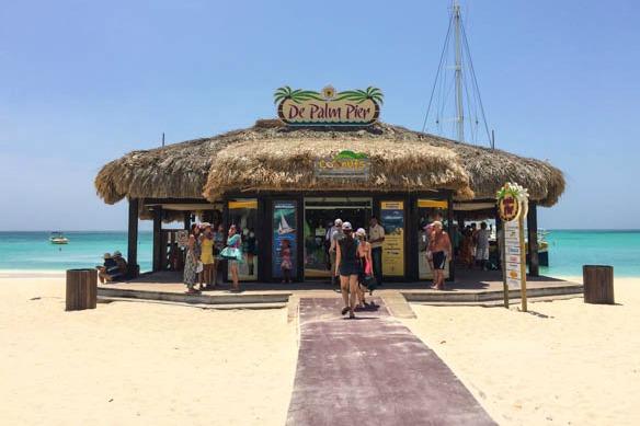 Palm Beach auf der Insel Aruba