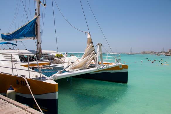Katamaranfahrt auf Aruba