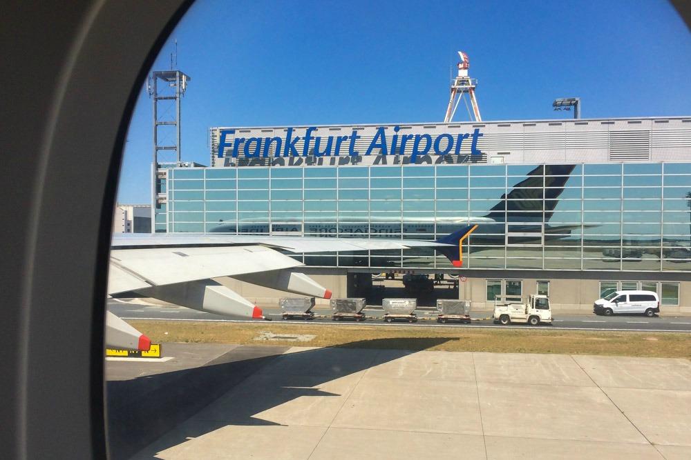 A380 am Flughafen Frankfurt