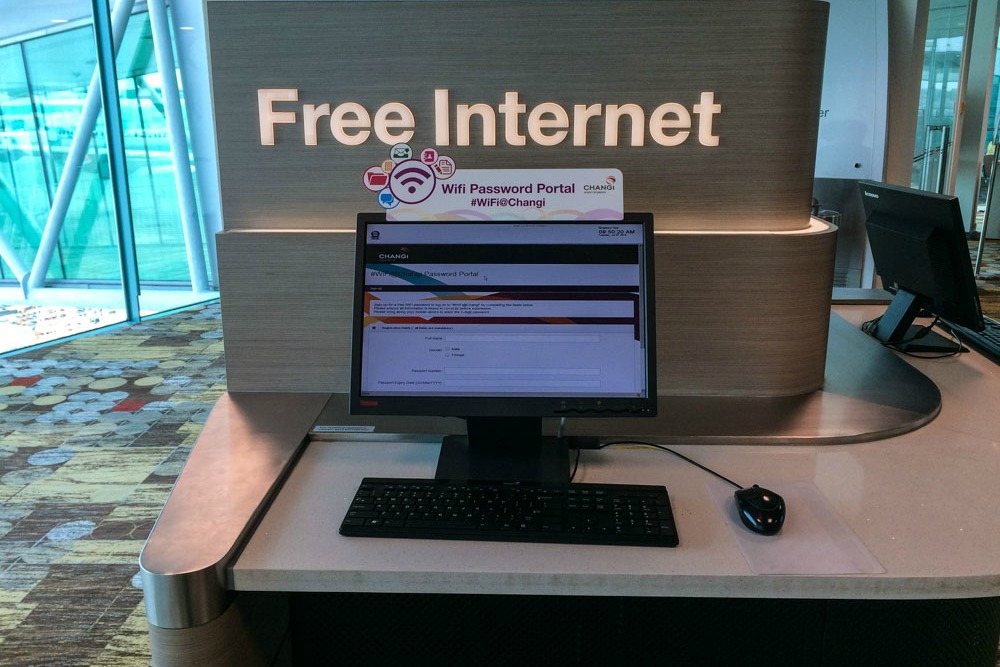 Free Wifi am Flughafen Singapur