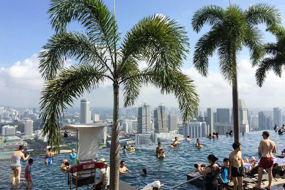 Höchster und längster Infinity Pool in Singapur