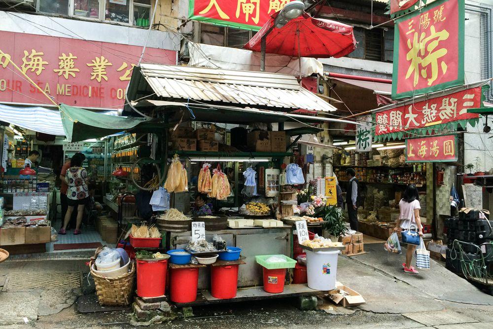 Hong Kong - Marktstand