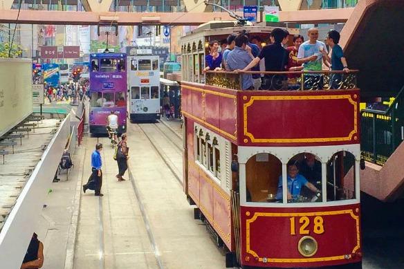 Hong Kong - Tram zum Victoria Peak