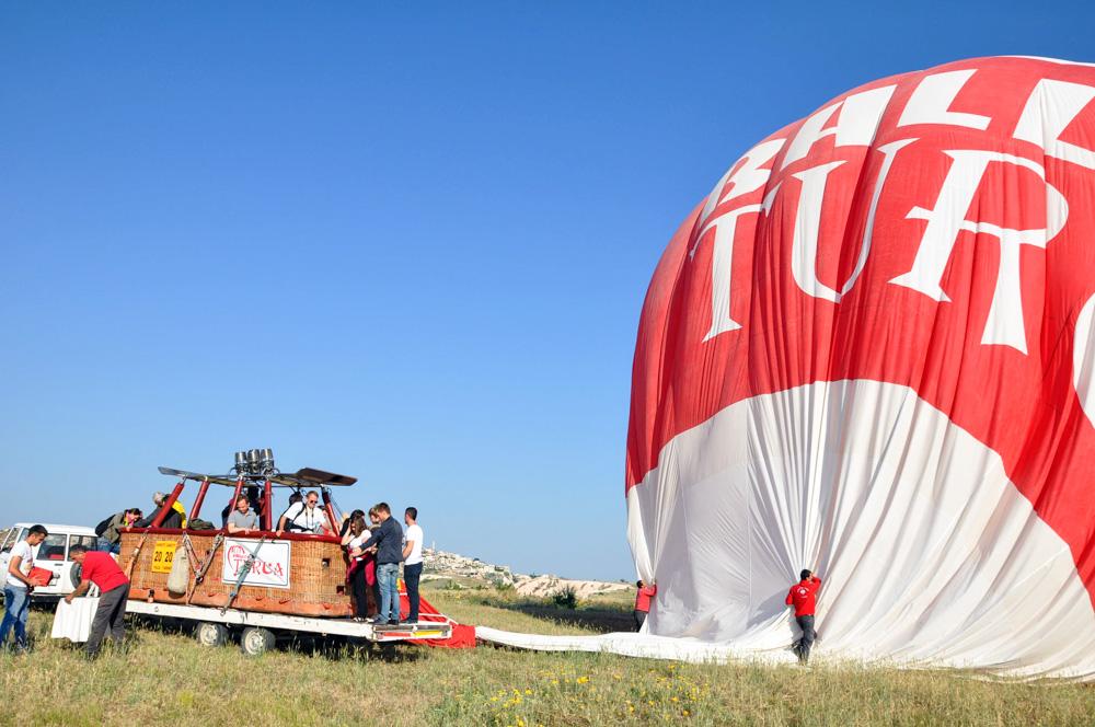 Landung - Ballonfahrt