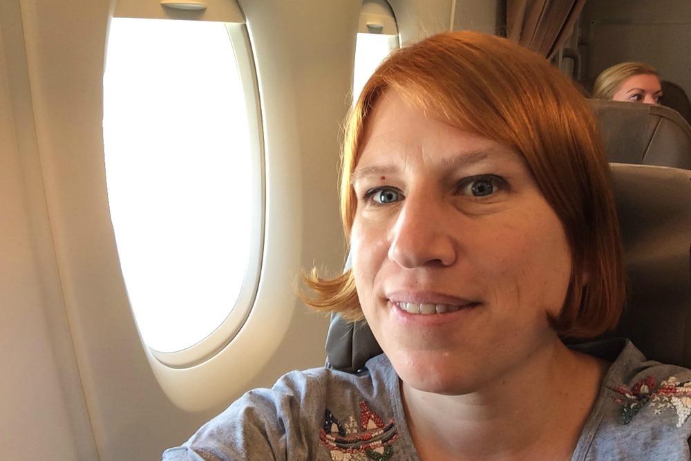 Reiseblogger Anja Beckmann in A380