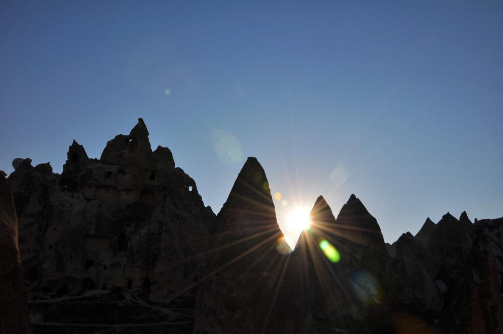 Sonne in Kappadokien
