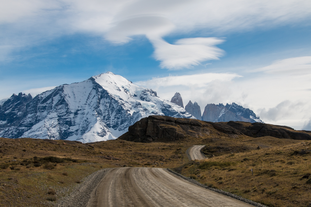 Weg zum Torres del Paine Nationalpark