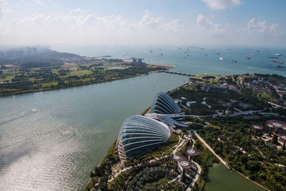 Ausblick Marina Bay Sands Hotel - Singapur