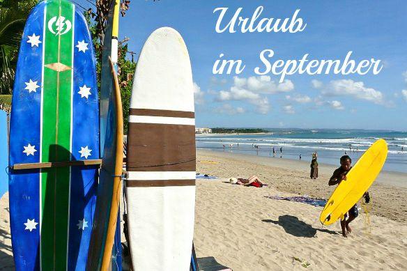 Urlaub im September