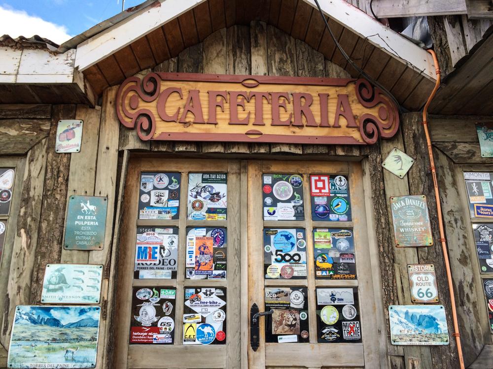Cafeteria in Patagonien