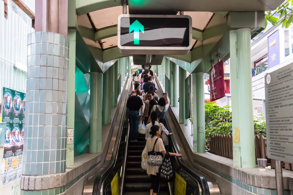 Central Mid-Levels Escalator in Hong Kong