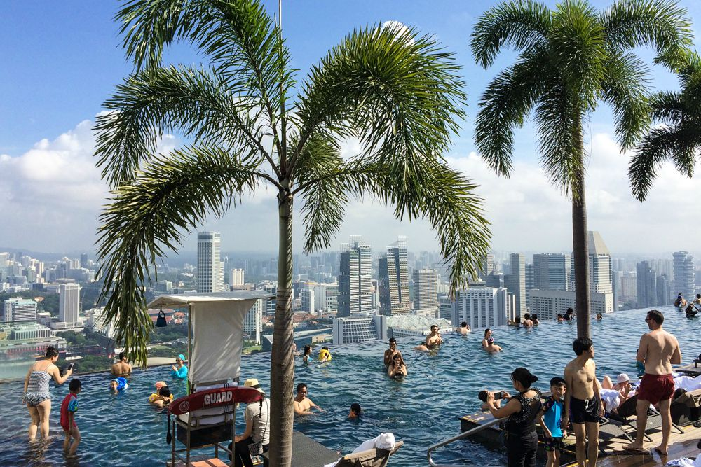 Höchster Infinity Pool der Welt - Singapur