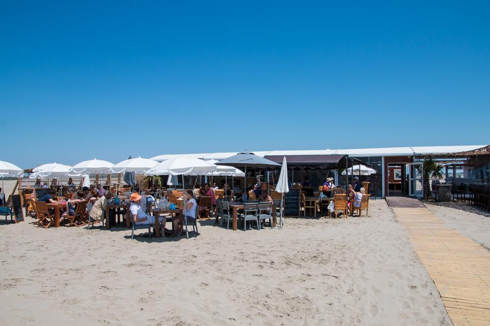 Les Pieds nus Strandbar in Südfrankreich