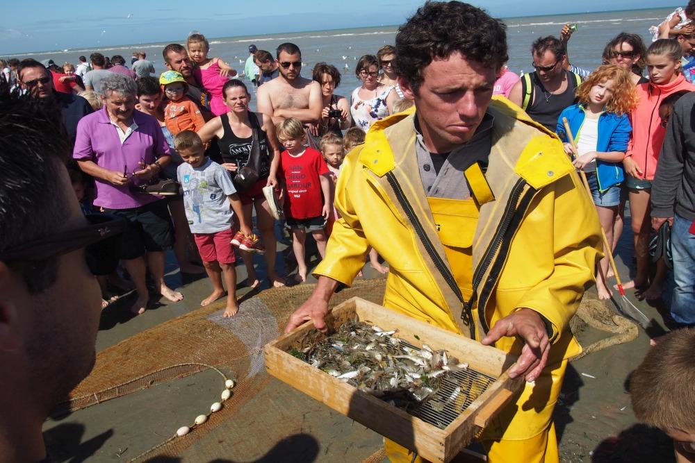 Krabbenfischer in Oostduinkerke