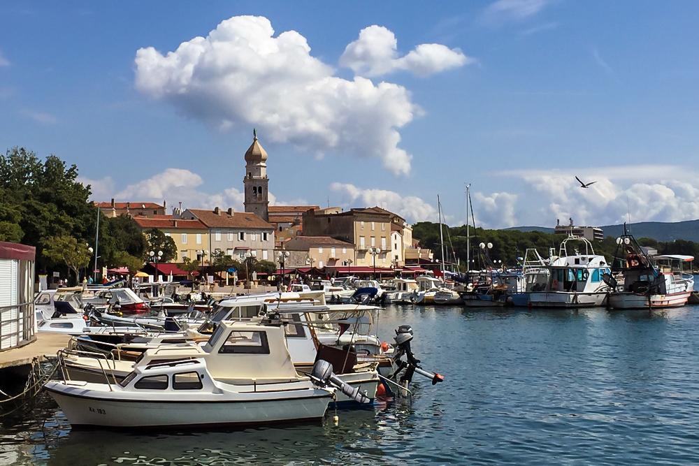 10 Hafen von Krk Stadt