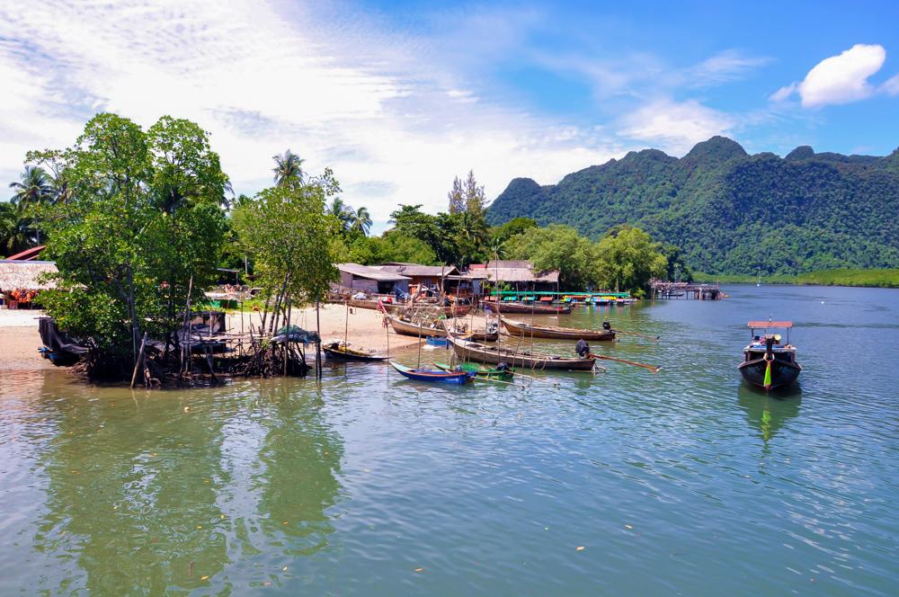 Dorf Thalen Krabi