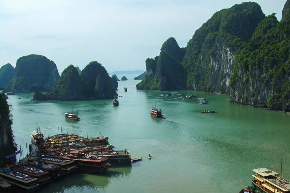 Weltreise Station: Halong Bucht in Vietnam