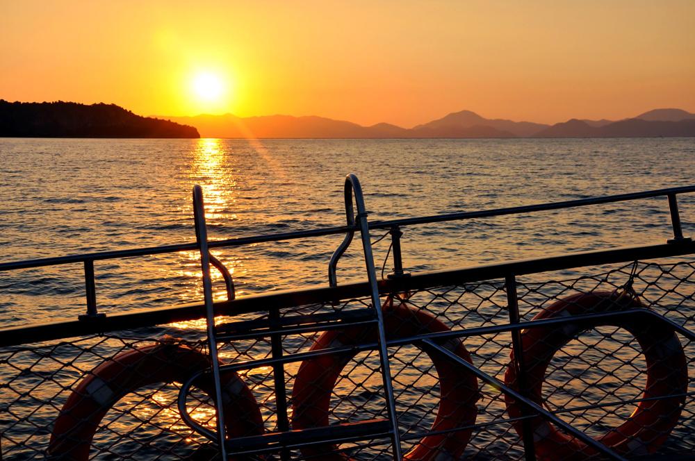 Fethiye Türkei Bootsfahrt Sonnenuntergang